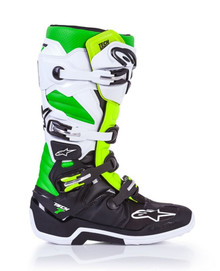 Alpinestars Tech-7 Motocross Boots Ltd Edition Vegas Black/White/Green/Flo Yellow