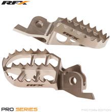 RFX Pro Factory Footrests Billet Steel (Ti Plating) Kawasaki KXF250 06-16 KXF450 07-16