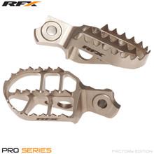 RFX Pro Factory Footrests Billet Steel (Ti Plating) Suzuki RMZ250 10-16 RMZ450 10-16 (Exc 2011)