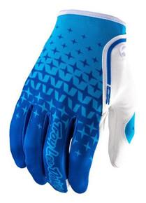 2017 Troy Lee Designs TLD XC Enduro Gloves Starburst Blue/Cyan MX Motocross Off-Road MTB