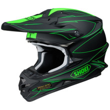 Shoei VFX-W MX Helmet Hectic TC4 Black/Green