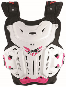 Leatt 4.5 Jacki Womens Ladies MX Chest Protector White/Pink Motocross Off-Road