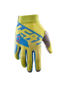 2017 Leatt GPX 2.5 X Flow Gloves Lime/Blue