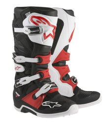 Alpinestars Tech 7 Boots Black/White/Red