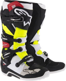 Alpinestars Tech-7 Motocross Boots Black/Red/Yellow