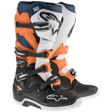Alpinestars Tech-7 Motocross BootsBlack/Orange/White/Blue