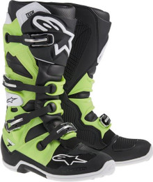 Alpinestars Tech-7 Motocross Boots Black/Green