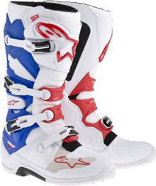 Alpinestars Tech-7 Motocross Boots White/Red/Blue