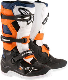 Alpinestars Tech 7S Junior Boots Black/Orange/White/Blue