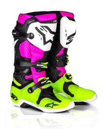 2017 Alpinestars Tech 10 Boots Radiant Pink/Flo Yellow