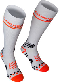 Compressport V2 Compression Full Socks White