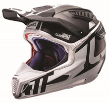 2017 Leatt GPX 6.5 Carbon Helmet Silver/Grey/White