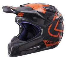 2017 Leat GPX 5.5 Composite V15 Helmet Black/Orange