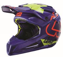 2017 Leatt GPX 5.5 Composite V15 Helmet Blue/Lime