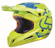 2017 Leatt GPX 5.5 Composite V15 Helmet Lime/Blue