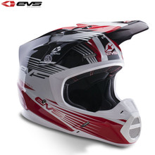 EVS T5 Works Motocross Helmet Black/White/Red
