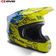 EVS T5 Ecto Motocross Helmet Hi-Viz Yellow/Blue