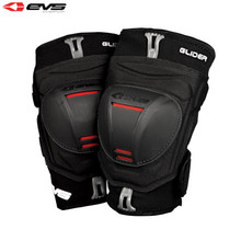 EVS Glider Knee Guards Adult (Black/Red) Pair Size Medium