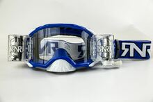 Rip n Roll RipnRoll 48mm WVS Motocross Goggles Platinum Blue