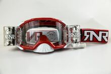 Rip n Roll RipnRoll 48mm WVS Motocross Goggles Platinum Red