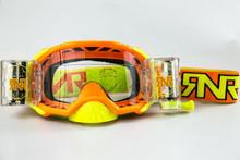 Rip n Roll RipnRoll 48mm WVS Motocross Goggles Platinum Orange