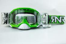 Rip n Roll RipnRoll 48mm WVS Motocross Goggles Platinum Green