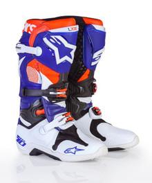 2017 Alpinestars Tech 10 Motocross Boots Indianapolis White/Blue/Orange