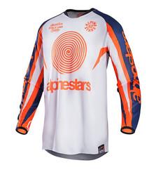 2017 Alpinestars Racer 7 Jersey Indianapolis White/Orange/Blue