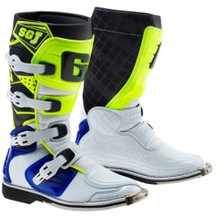 Gaerne SGJ Kids MX Boots White/Blue/Yellow