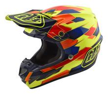 2018 Troy Lee Designs TLD SE4 Composite Helmet Maze Yellow/Blue
