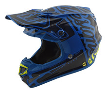 2018 Troy Lee Designs SE4 Polyacrylite Helmet Factory Blue