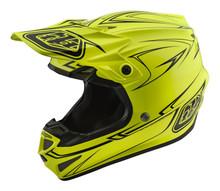 2018 Troy Lee Designs TLD SE4 Polyacrylite Helmet Pinstripe Yellow