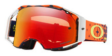 OAKLEY AIRBRAKE GOGGLE TROY LEE DESIGNS MEGABURST ORANGE/NAVY- PRIZM TORCH IRIDIUM LENS