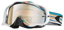 Oakley Crowbar Goggles Glitch Blue/Orange w/Black Iridium & Clear Lens