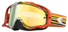 Oakley Crowbar Goggles Glitch Orange/Yellow w/24K Iridium & Clear Lens