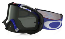 Oakley Crowbar Goggles Ryan Dungey Blockpass Red/White/Blue w/Dark Grey Lens