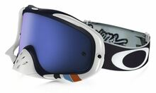 Oakley Crowbar Goggles TLD Troy Lee Designs Corse White w/Black Ice Iridium Lens