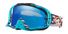 Oakley Crowbar Goggles TLD Troy Lee Designs Code Red/White/Blue w/Black Ice Iridium Lens