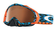 Oakley Mayhem Pro Goggles TLD Troy Lee Designs Cheeta Blue w/Black Iridium Lens