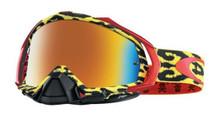 Oakley Mayhem Pro Goggles TLD Troy Lee Designs Cheeta yellow w/Fire Iridium Lens