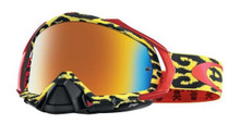 Oakley Mayhem Pro Goggles TLD Troy Lee Designs Cheeta yellow w/Fire Iridium Lens