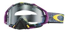 Oakley Mayhem Pro Goggles Skull Pipe Blue w/Clear Lens