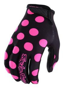 2018 Troy Lee Designs TLD Air Gloves Polka Dot Black/Flo Pink