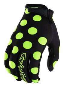 2018 Troy Lee Designs TLD Air Gloves Polka Dot Black/Flo Yellow