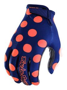 2018 Troy Lee Designs TLD Air Gloves Polka Dot Navy/Orange