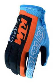 2018 Troy Lee Designs TLD Youth GP Air Gloves KTM Team Navy/Cyan
