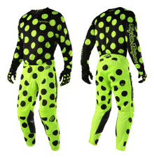 2018 Troy Lee Designs TLD GP Air Combo Polka Dot Black/Flo Yellow