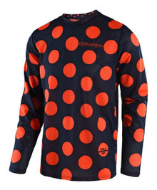 2018 Troy Lee Designs TLD Youth GP Air Jersey Polka Dot Navy/Orange