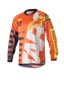 2018 Alpinestars Racer Jersey Braap Orange/Blue/White