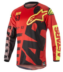 2018 Alpinestars Racer Jersey Braap Red/Black/Flo Yellow